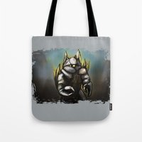rocky Tote Bags featuring Rocky by Wesley S Abney