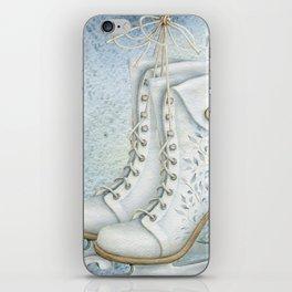 Christmas vintage ice skating #1 iPhone Skin