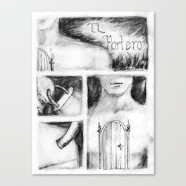 El Portero - Surreal Draw - Psychological Visual Story Canvas Print