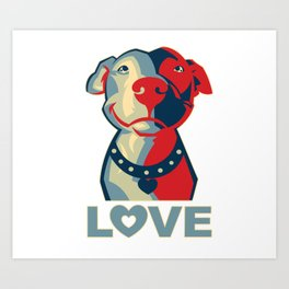 Pitbull - Love Art Print