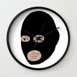 ski mask robber Wall Clock