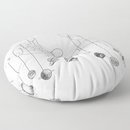 Solar System II Floor Pillow