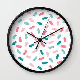 Head Rush - memphis throwback hipster style dot pill 1980s neon pastel palm springs socal surfer Wall Clock