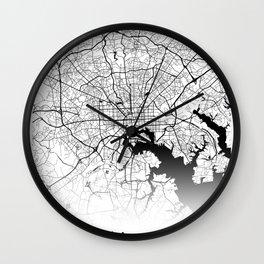 City Map Neck Gaiter Baltimore Maryland Neck Gator Wall Clock