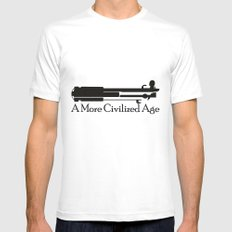A More Civilized Age MEDIUM Mens Fitted Tee White