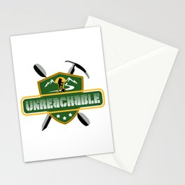 "Emblem for travelers ""Unreachable"" Stationery Cards"