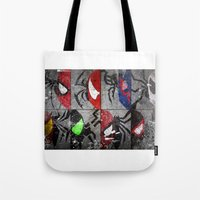 verse Tote Bags featuring Spider-Verse by JordanJBDesigns