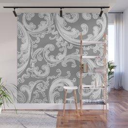 Retro Chic Swirl Gray Wall Mural