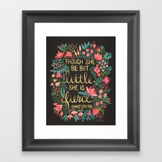 Little & Fierce on Charcoal Framed Art Print