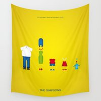 simpsons Wall Tapestries featuring Simpsons by Jana Costa