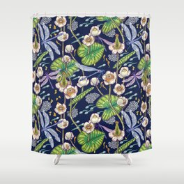 river stories Shower Curtain