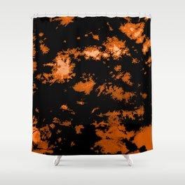 Gothic Tangerine tie-dye print Shower Curtain