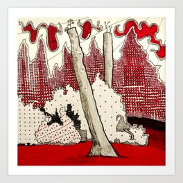 Tree stumps at Stanley Park Art Print