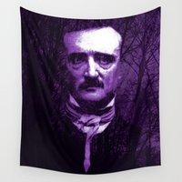 poe Wall Tapestries featuring E. A. Poe by Scar Design