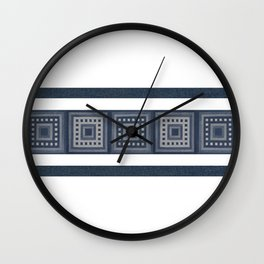 Denim Squares Photocollage Wall Clock
