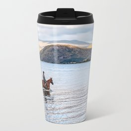 Horse at Airds Bay Loch Etive Travel Mug