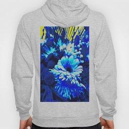 blue flowers Hoody
