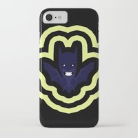 bat man iPhone & iPod Cases featuring bat by Nir P