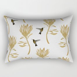 Hummingbird & Flower I Rectangular Pillow