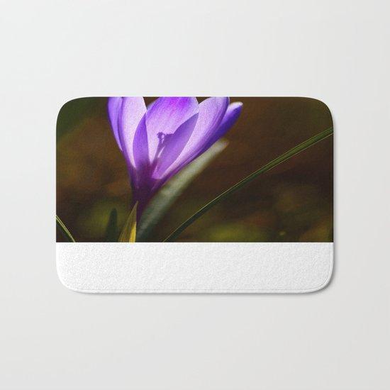 Bright Purple Spring Crocus Bath Mat