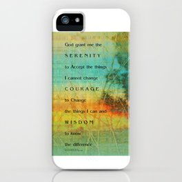 Serenity Prayer Colorful Trees iPhone Case