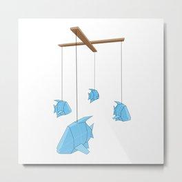 Papercraft Fish Mobile Metal Print