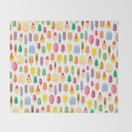 Ice Lolly, Popsicle, Ice Cream, Print.  Throw Blanket