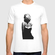 Marilyn Monroe INKED White Mens Fitted Tee MEDIUM