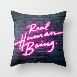 Real Human Being Throw Pillow
