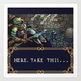 Dark Souls Gameboy Demake: Oscar's Last Wish Art Print