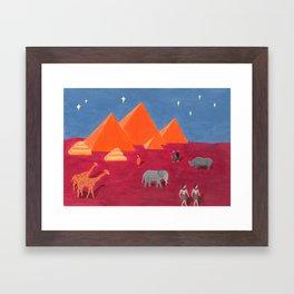 Evening in Cairo Framed Art Print