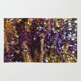 PURPLE AND GOLD Rug