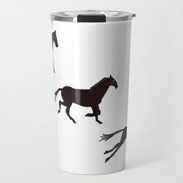 a horse runs Travel Mug