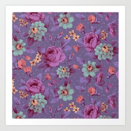 Hopeless Romantic - lavender version Art Print