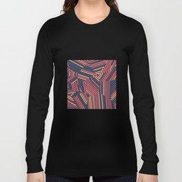 Tequila Sunset - Voronoi Stripes Long Sleeve T-shirt