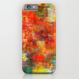 AUTUMN HARVEST - Fall Colorful Abstract Textural Painting Warm Red Orange Yellow Green Thanksgiving iPhone Case