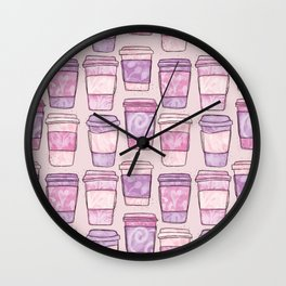 Coffee Cups | Purples Palette Wall Clock