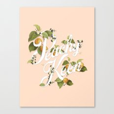 Peachy Keen : Peach Canvas Print