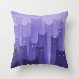 spooky specter cats Throw Pillow