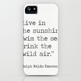 Ralph Waldo Emerson quote 1 iPhone Case