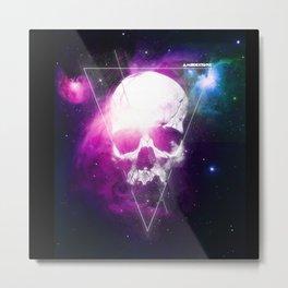 222 Skull Metal Print