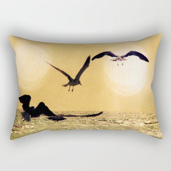 Touch the Golden Heavens Rectangular Pillow