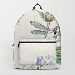 lotus and dragonfly Backpack
