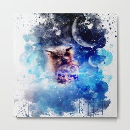 Wonderful owl in the universe Metal Print