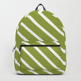 Olive Diagonal Stripes Backpack