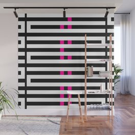 Licorice Bytes, No.7 in Black and Pink Wall Mural