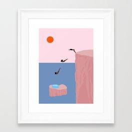Dive//Survive Framed Art Print