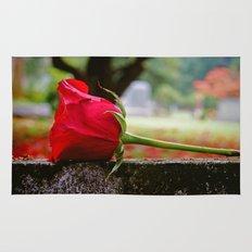 Cemetery rose Rug