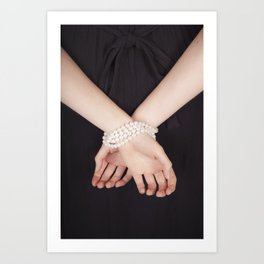 Tied with pearls Art Print