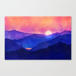 Cobalt Mountains Canvas Print